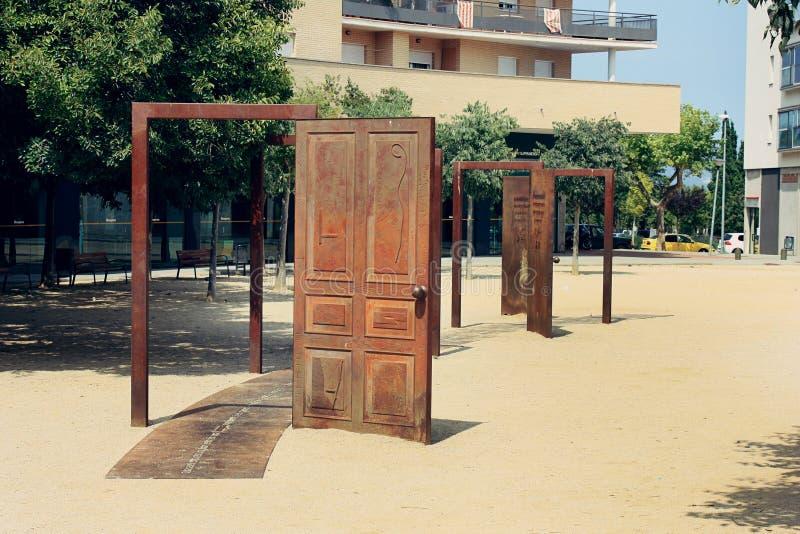 Uliczna sztuka w Figueres obraz stock
