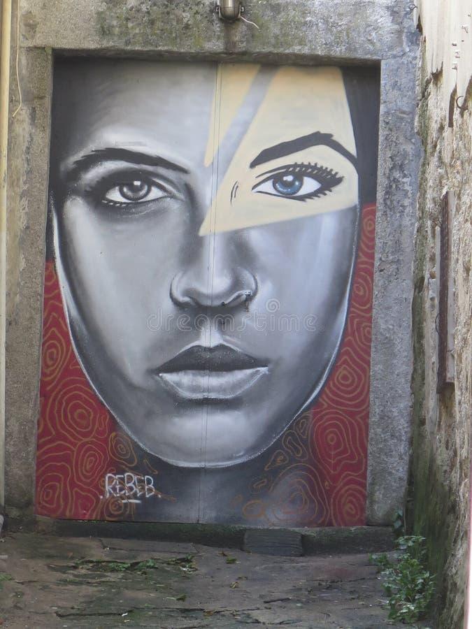 Uliczna sztuka w Porto miasto Portugal obrazy stock