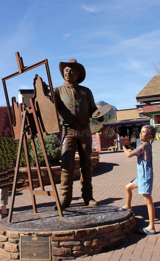 Uliczna sztuki rzeźba w Sedona, Arizona obrazy royalty free