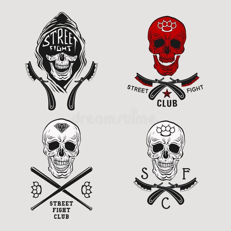 Uliczna walki czaszka royalty ilustracja