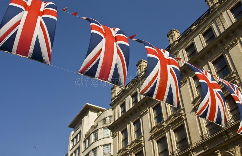uliczne dekorować flaga zdjęcie royalty free