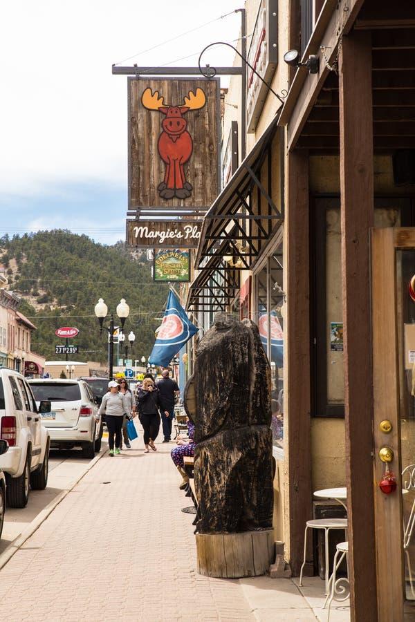 Uliczne sceny Idaho wiosny Kolorado obraz royalty free