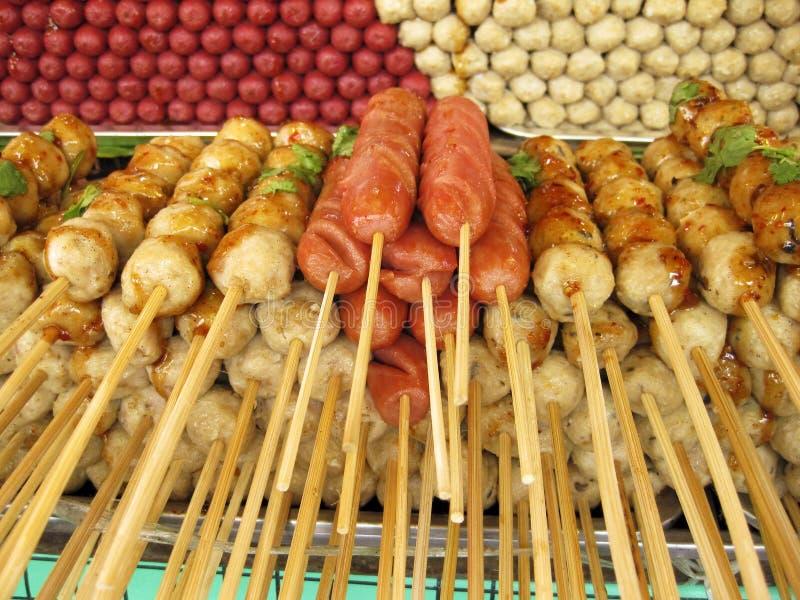 uliczne targowe Azjata przekąski zdjęcie stock