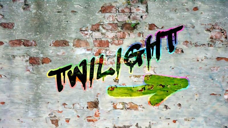 Uliczni graffiti zmierzch zdjęcie royalty free