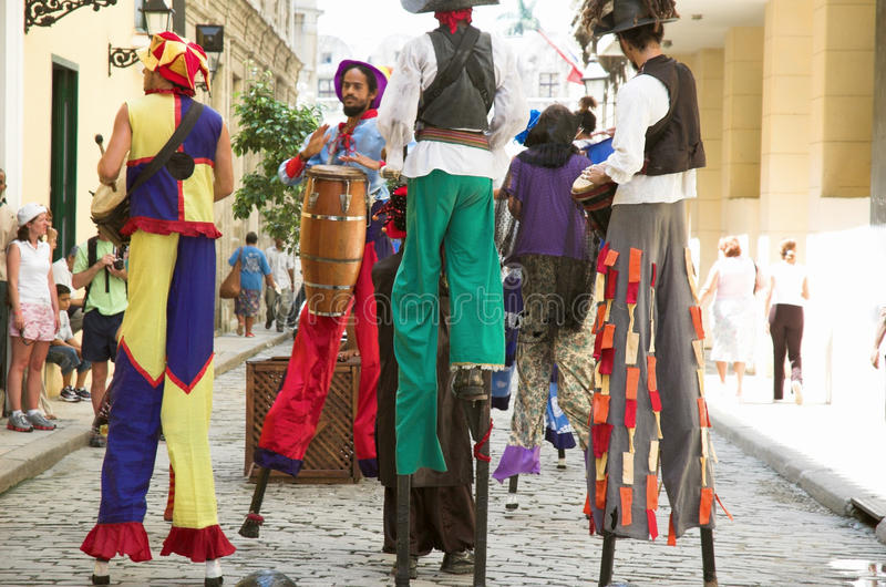 uliczni Havana wykonawcy fotografia stock