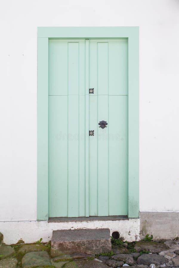 Uliczni i starzy portuguese kolonistów domy w historycznym śródmieściu ja fotografia stock