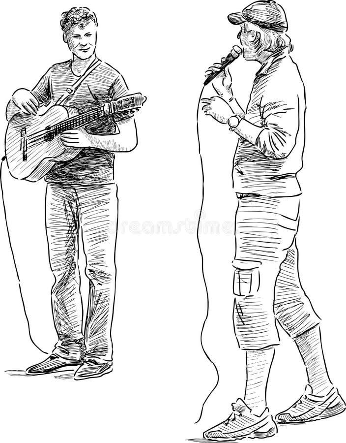 Uliczni muzycy ilustracji