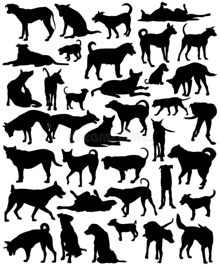 Uliczni psy royalty ilustracja