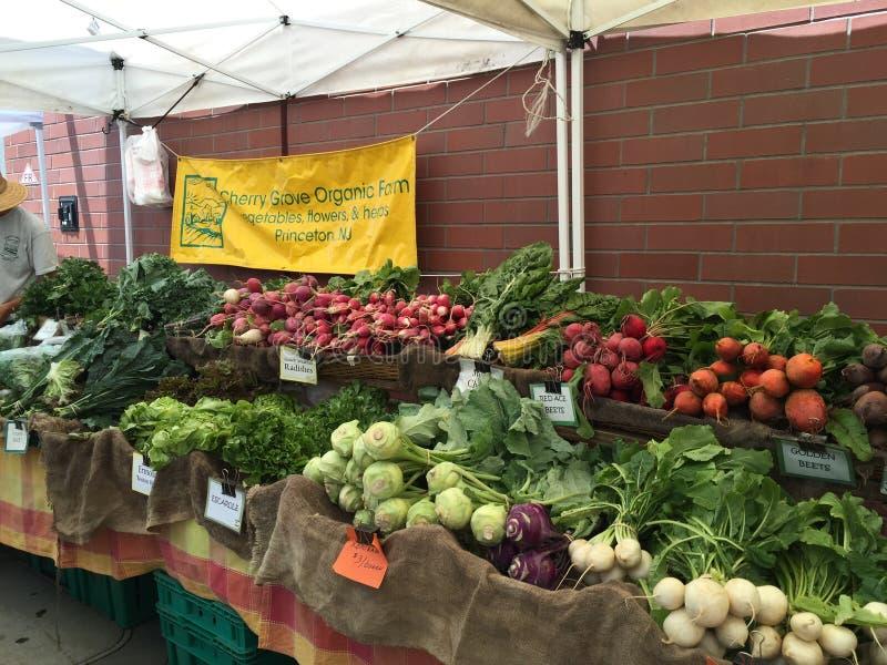 Uliczni rolnicy rynki, Princeton NJ obraz stock