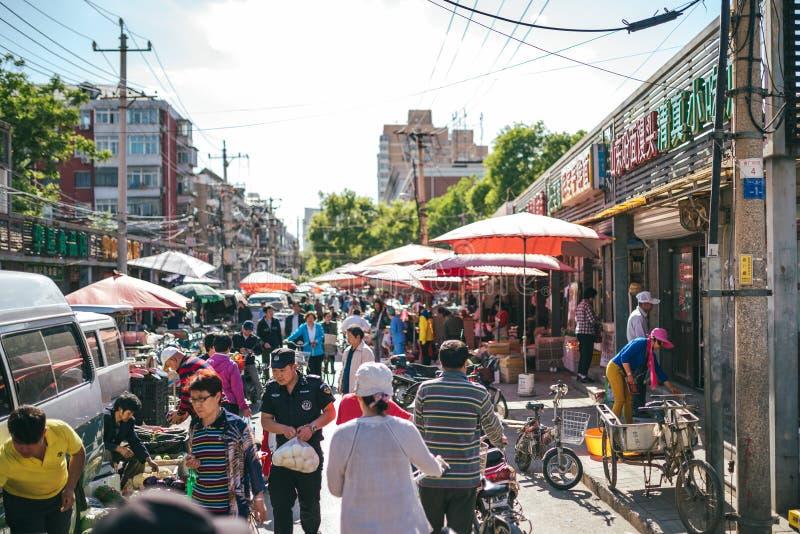 Uliczni rynki na Pekin, Chiny zdjęcie stock