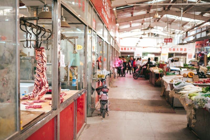 Uliczni rynki na Pekin, Chiny zdjęcia royalty free