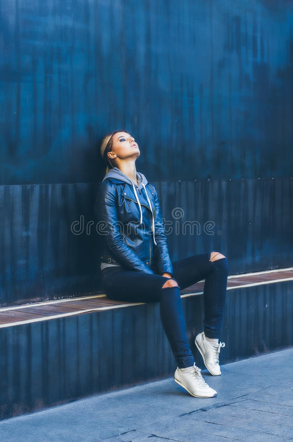 Uliczni ` s portrety nastolatek obrazy stock