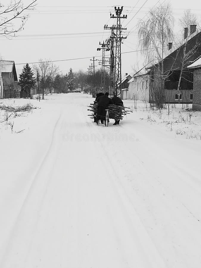 Uliczny śnieg fotografia stock