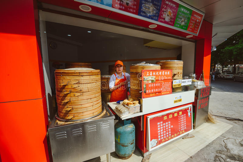 Uliczny życie w Szanghaj, Chiny obrazy royalty free