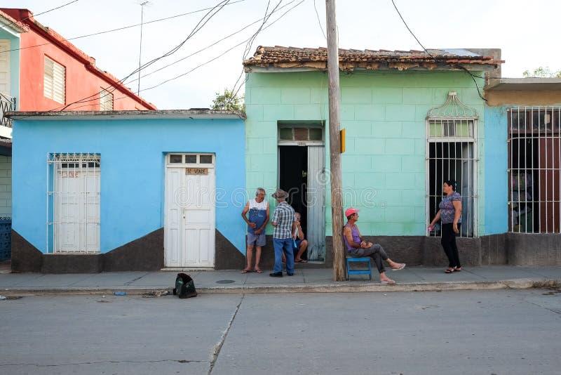 Uliczny życie w Trinidad, Kuba obraz royalty free