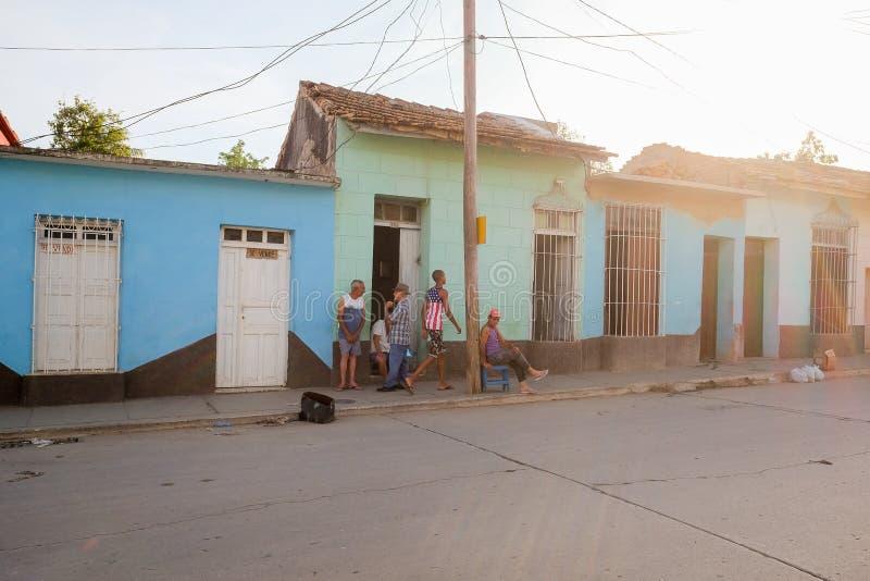 Uliczny życie w Trinidad, Kuba zdjęcie stock