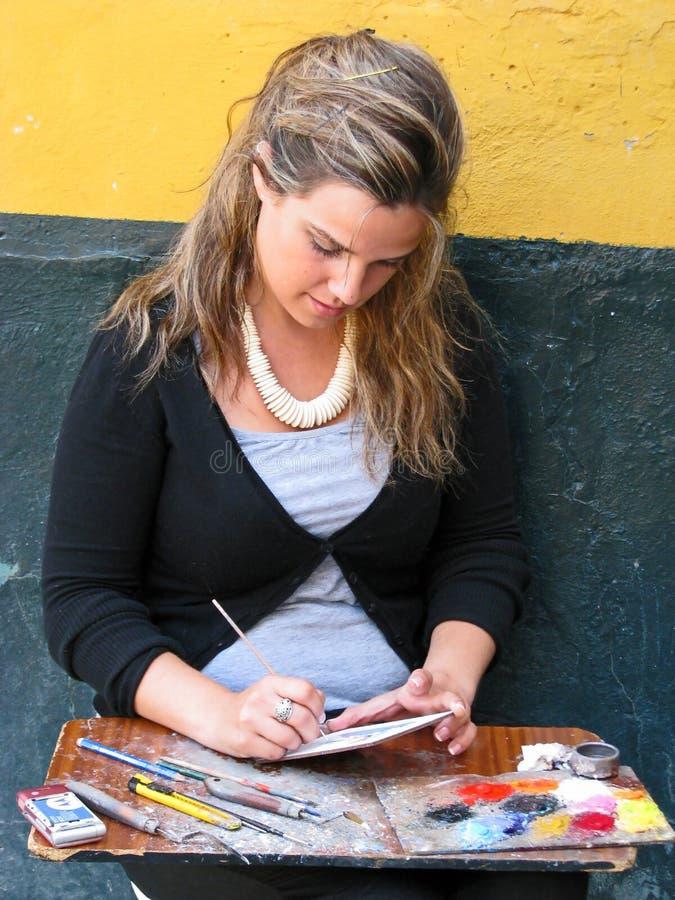 Uliczny artysta w Sevilla, Hiszpania zdjęcia stock