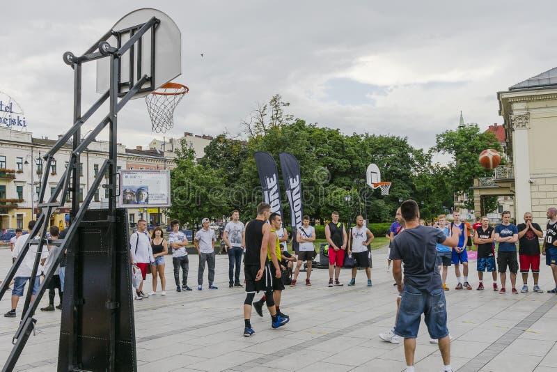 Uliczny Baskeball zdjęcie royalty free