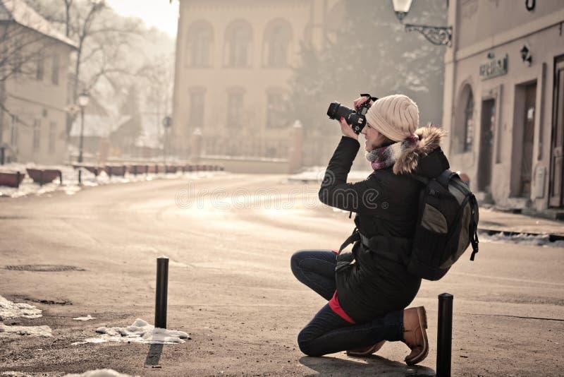 Uliczny fotograf zdjęcie royalty free