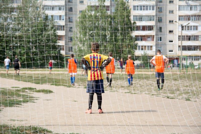 Uliczny futbol w Rosja obraz stock