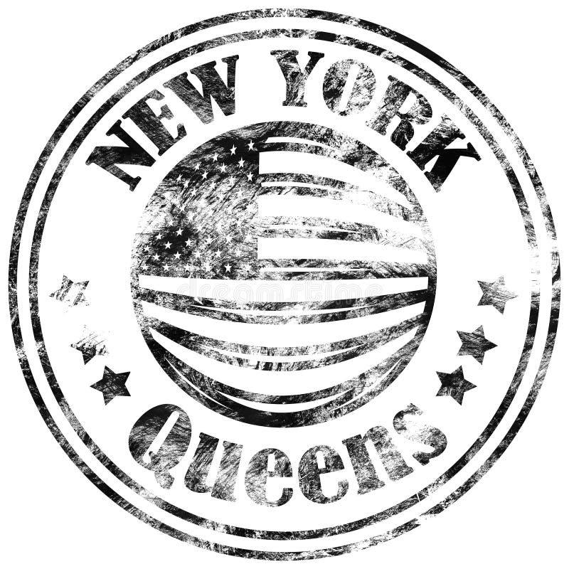 Uliczny grafika styl NYC Queens miasta sztuka Moda elegancki druk Szablon odzież, karta, etykietka, plakat emblemat, koszulka zna royalty ilustracja