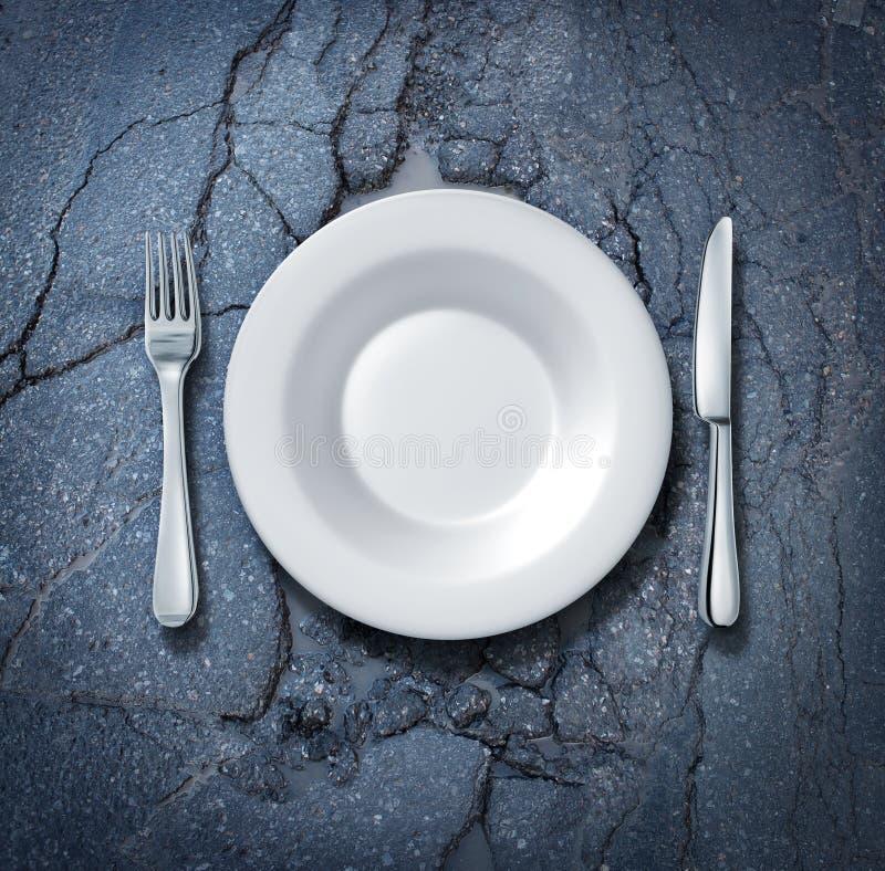 Uliczny jedzenie ilustracji