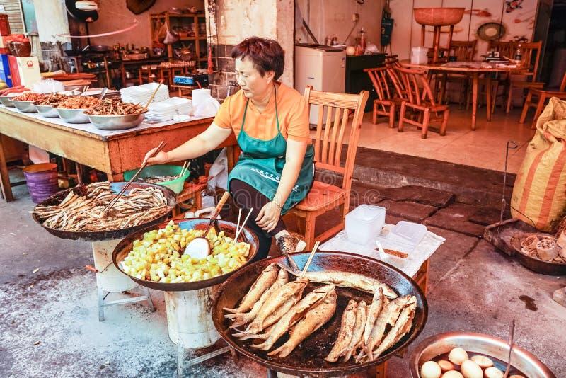 Uliczny jedzenie w Chiny obraz royalty free