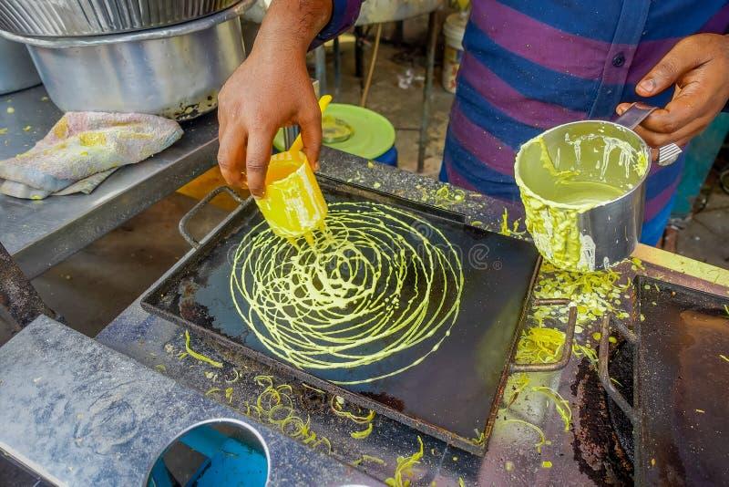 Uliczny jedzenie w Małej India enklawie w George Town, Malezja obrazy stock