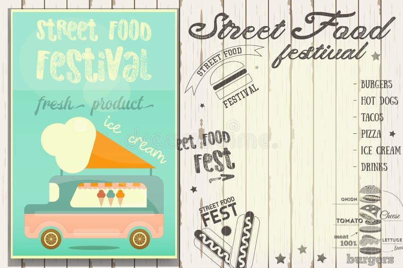 Uliczny karmowy festiwal royalty ilustracja