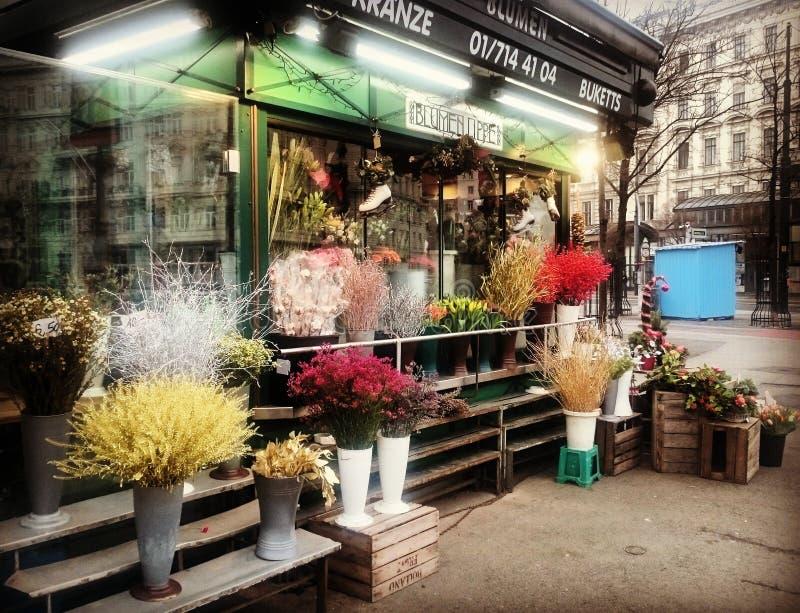 Uliczny kwiatu sklep obrazy stock
