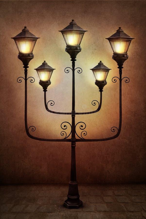 Uliczny lampion ilustracja wektor