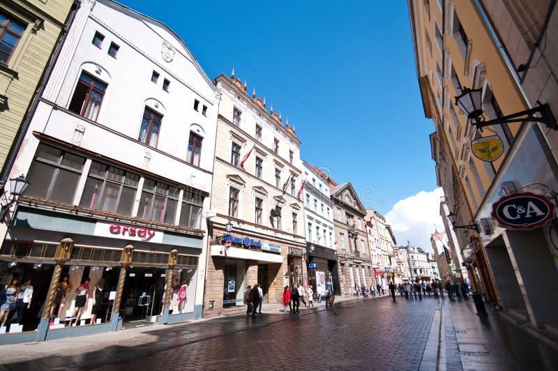 uliczny Poland stary miasteczko Torun zdjęcia stock