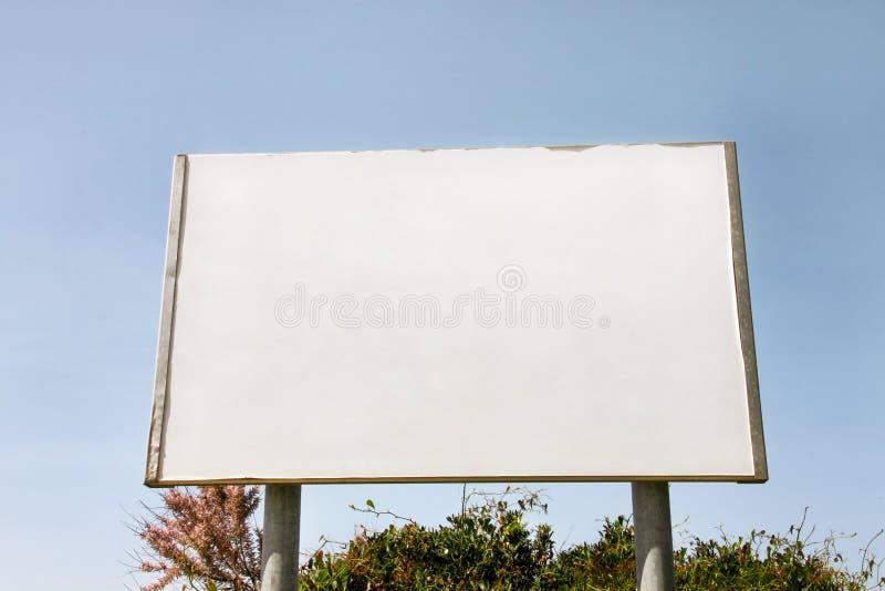 Uliczny pusty reklamowego billboarda pokaz, zawiadomienie stół Reklamowe agencje fotografia stock