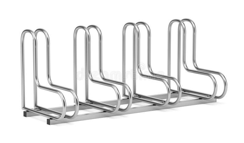 Uliczny rowerowy stojak na bielu ilustracja wektor
