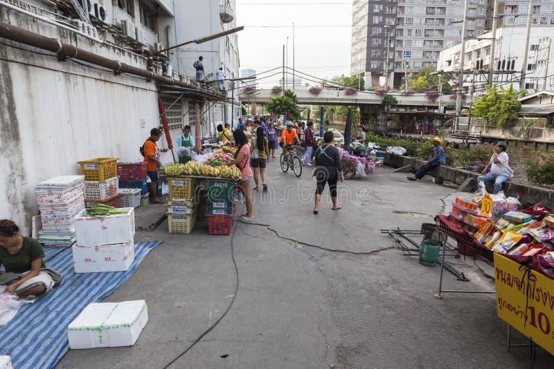 Uliczny rynek w Bangkok, Tajlandia zdjęcia stock
