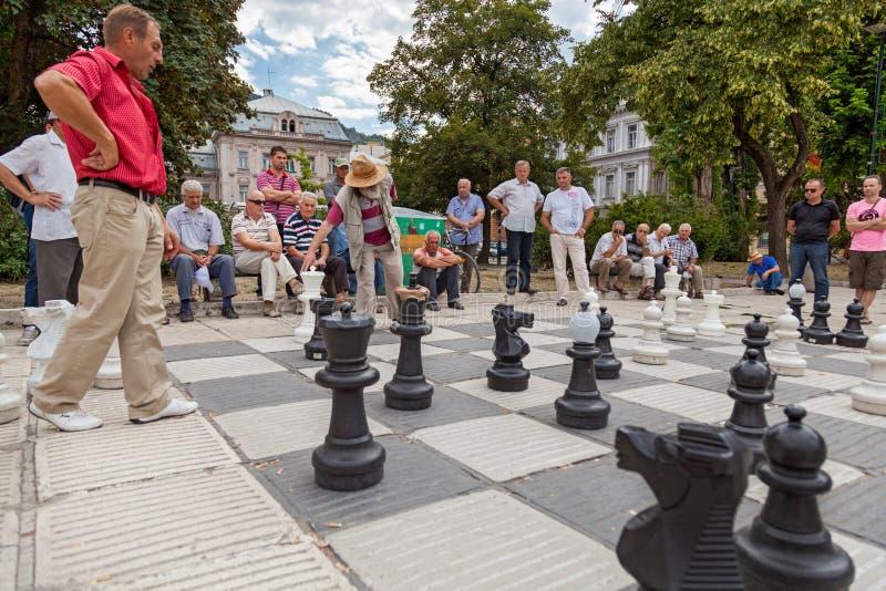 Uliczny szachy obrazy royalty free