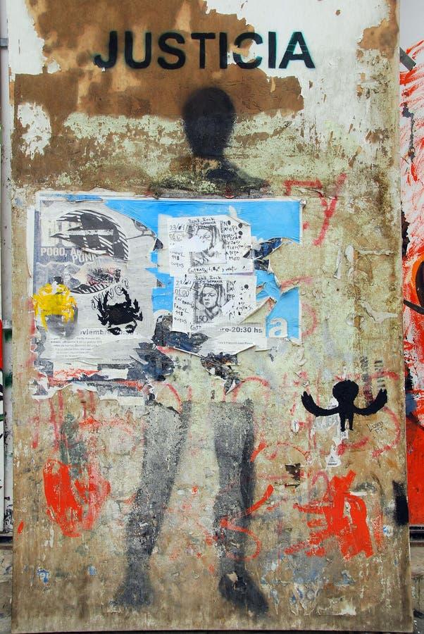 Uliczny sztuki śródmieście Ushuaia obrazy royalty free