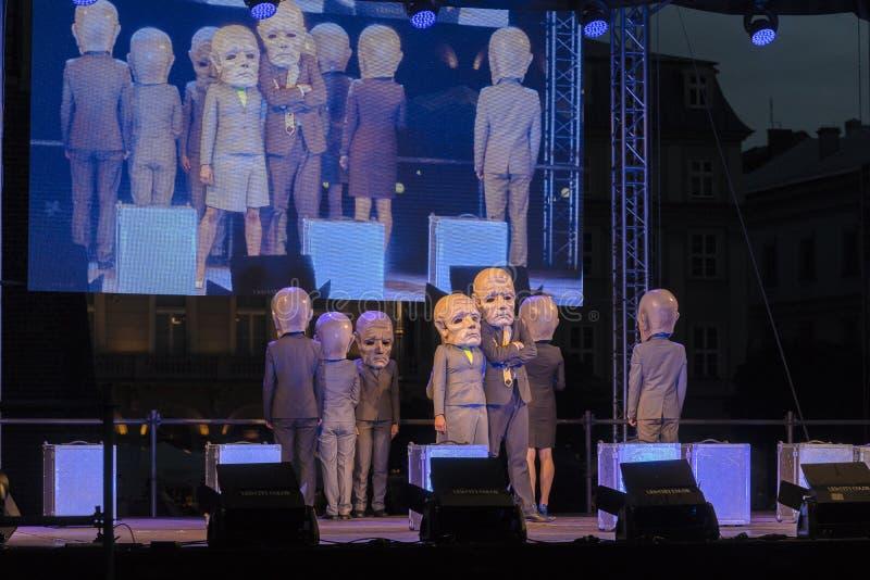 Uliczny teatru festiwal w Krakow obrazy stock