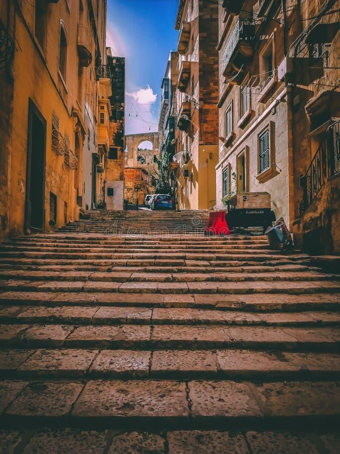 uliczny Valletta obraz stock
