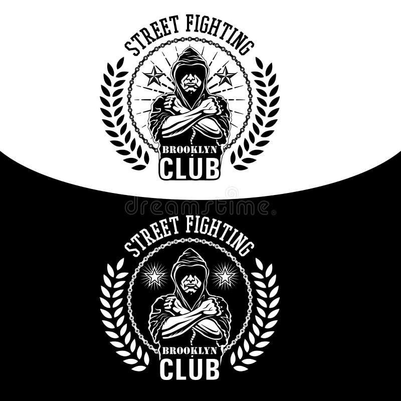 Uliczny walka emblemat ilustracja wektor