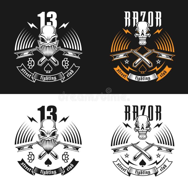 Uliczny walka emblemat royalty ilustracja