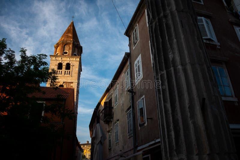 Uliczny widok stary miasteczko Zadar Chorwacja obrazy stock