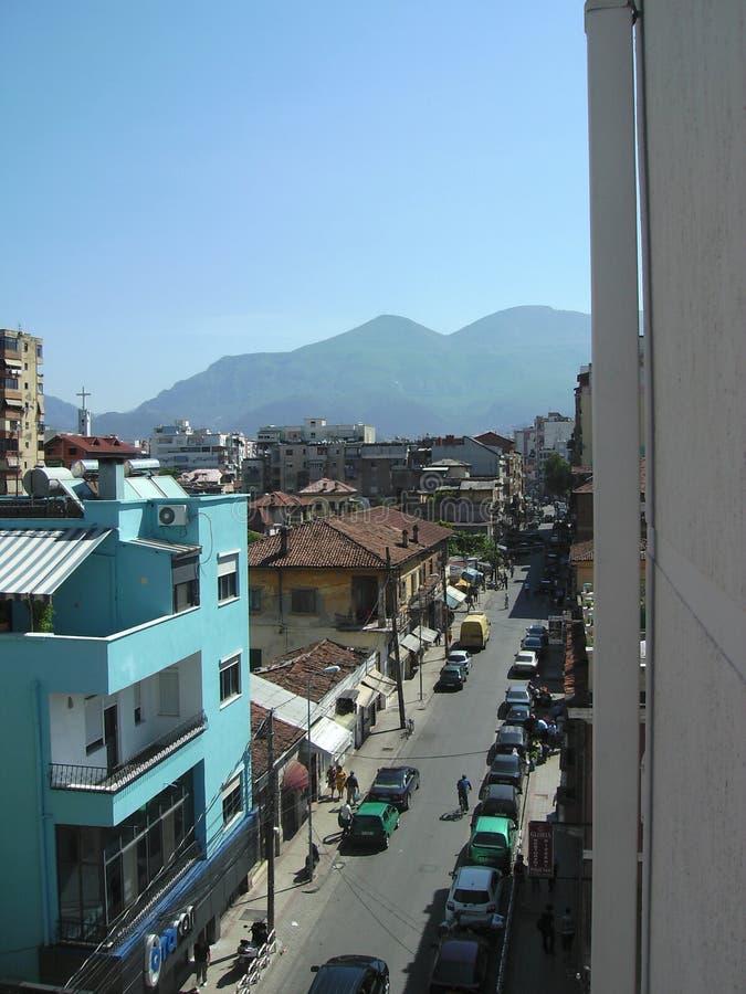 Uliczny widok, Tirana, Albania zdjęcia stock
