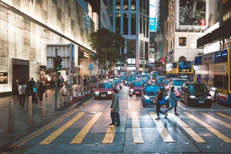Uliczny widok w Hong Kong zdjęcie royalty free