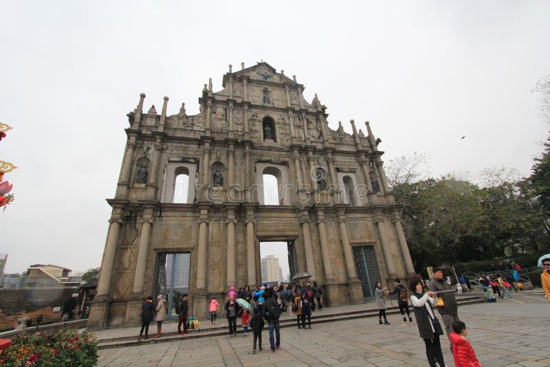 Uliczny widok w Macau zdjęcia stock