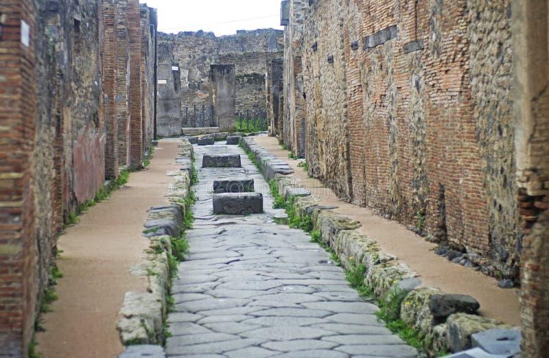 Uliczny widok w Pompei, Włochy zdjęcia stock