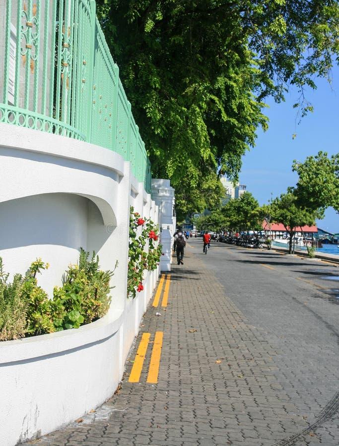 Uliczny widok w samiec, Maldives obrazy royalty free