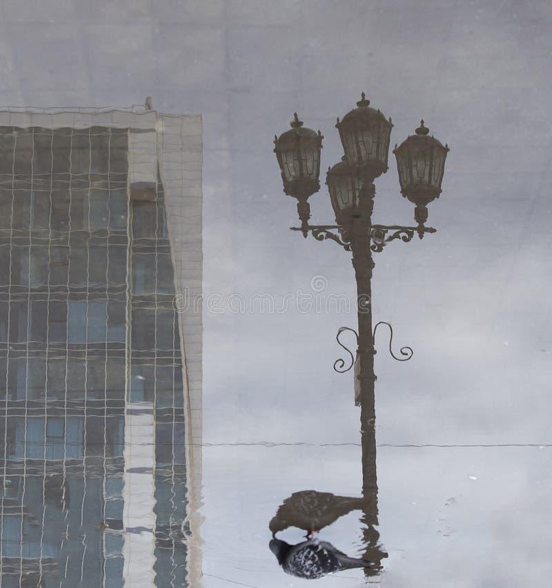 Uliczny widok w zwyczajnej ulicie, Yekaterinburg, federacja rosyjska zdjęcie royalty free