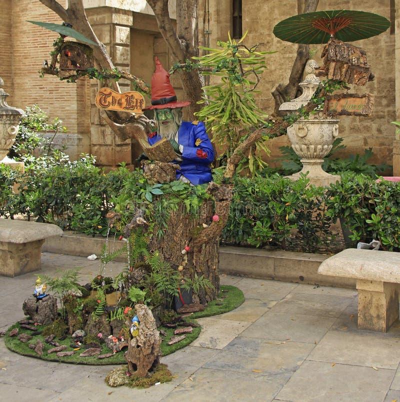 Uliczny wykonawca w hiszpańskim mieście Walencja zdjęcie stock