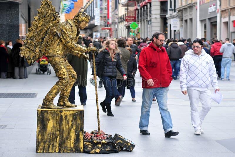 Uliczny wykonawca w Madryt Hiszpania zdjęcie royalty free